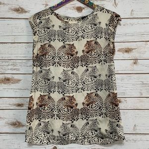 The Limited Cheetah Sleeveless Blouse